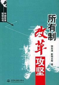 所有制改革攻坚(特价\封底打有圆孔)——中国改革攻坚丛书