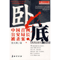 卧底--中国首例公安局长被杀案