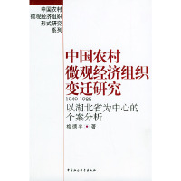中国农村微观经济组织变迁研究:1949—1985:以湖北省为中心的个案分析——中国农村微观经济组织形式研究